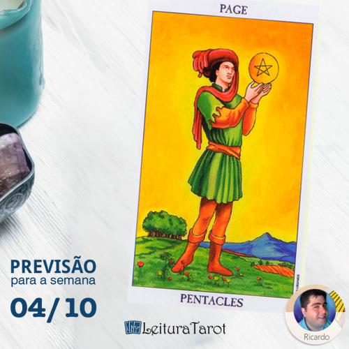 Previsão semanal do Tarot de 04 a 10 de Outubro/2020